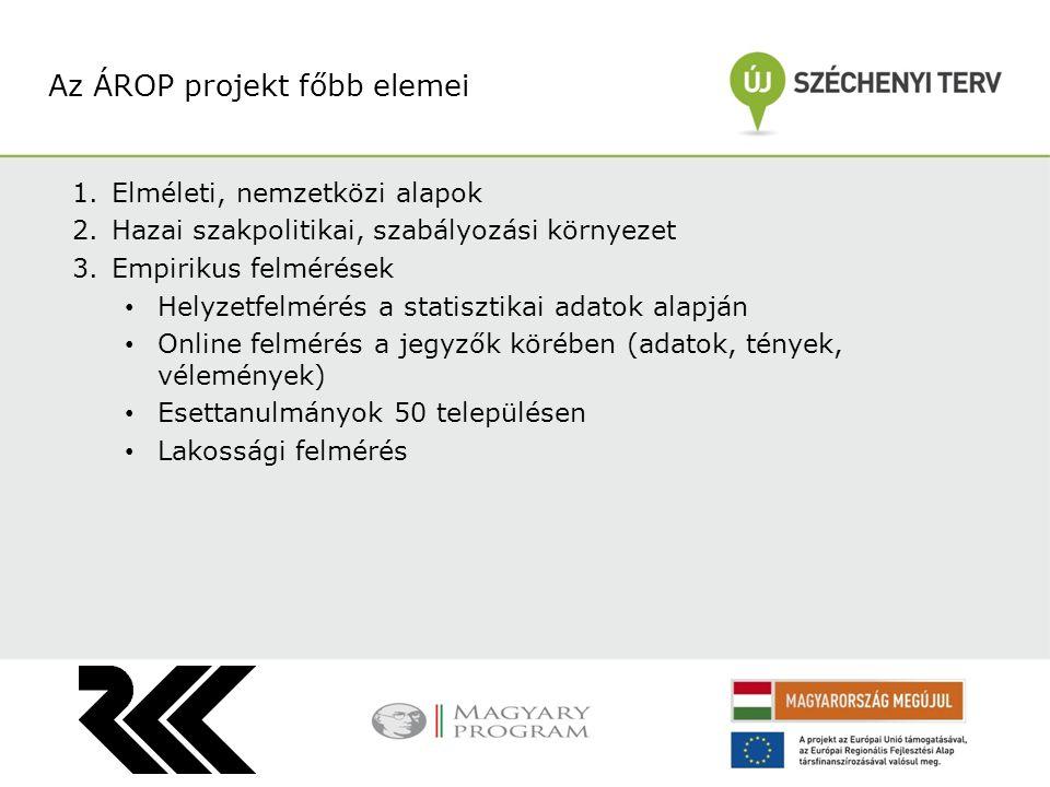 Az ÁROP projekt főbb elemei