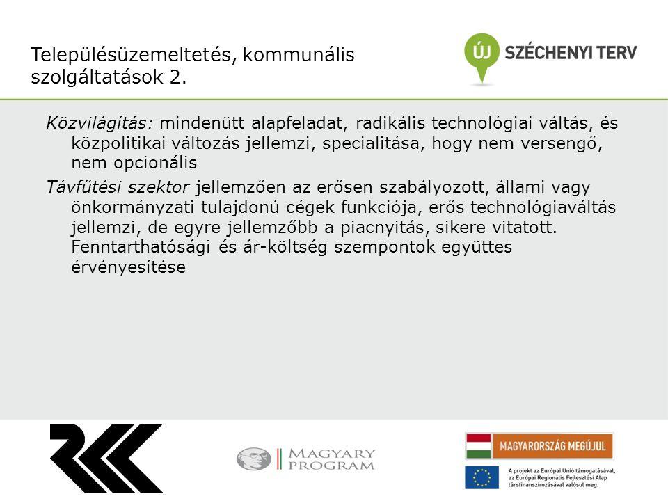 Településüzemeltetés, kommunális szolgáltatások 2.