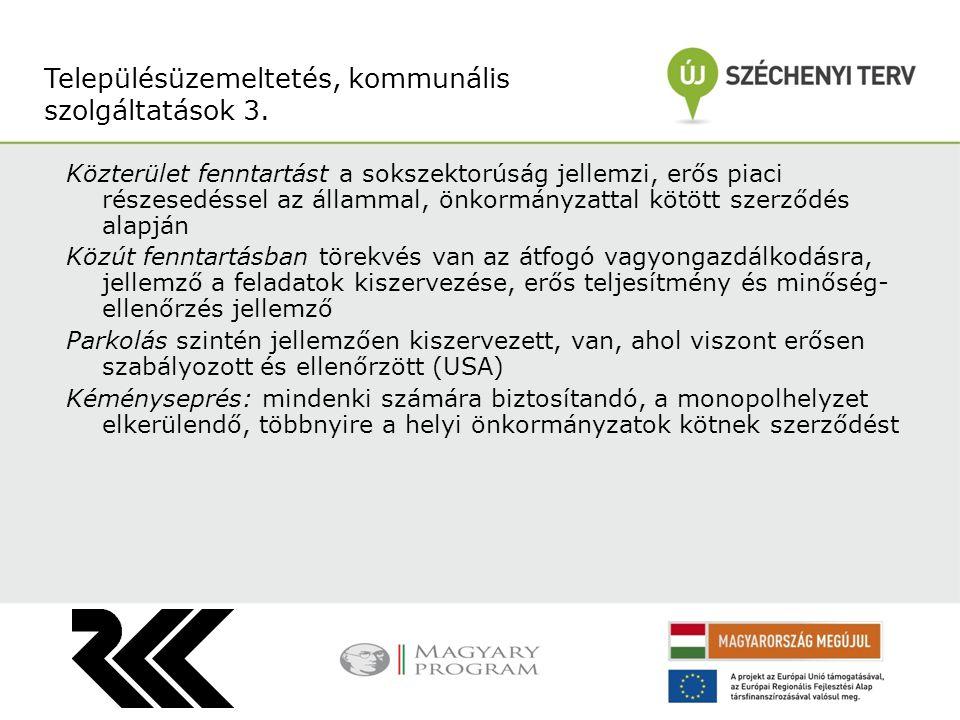 Településüzemeltetés, kommunális szolgáltatások 3.
