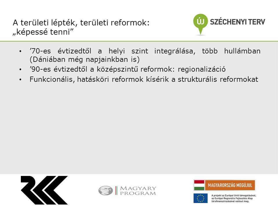 """A területi lépték, területi reformok: """"képessé tenni"""