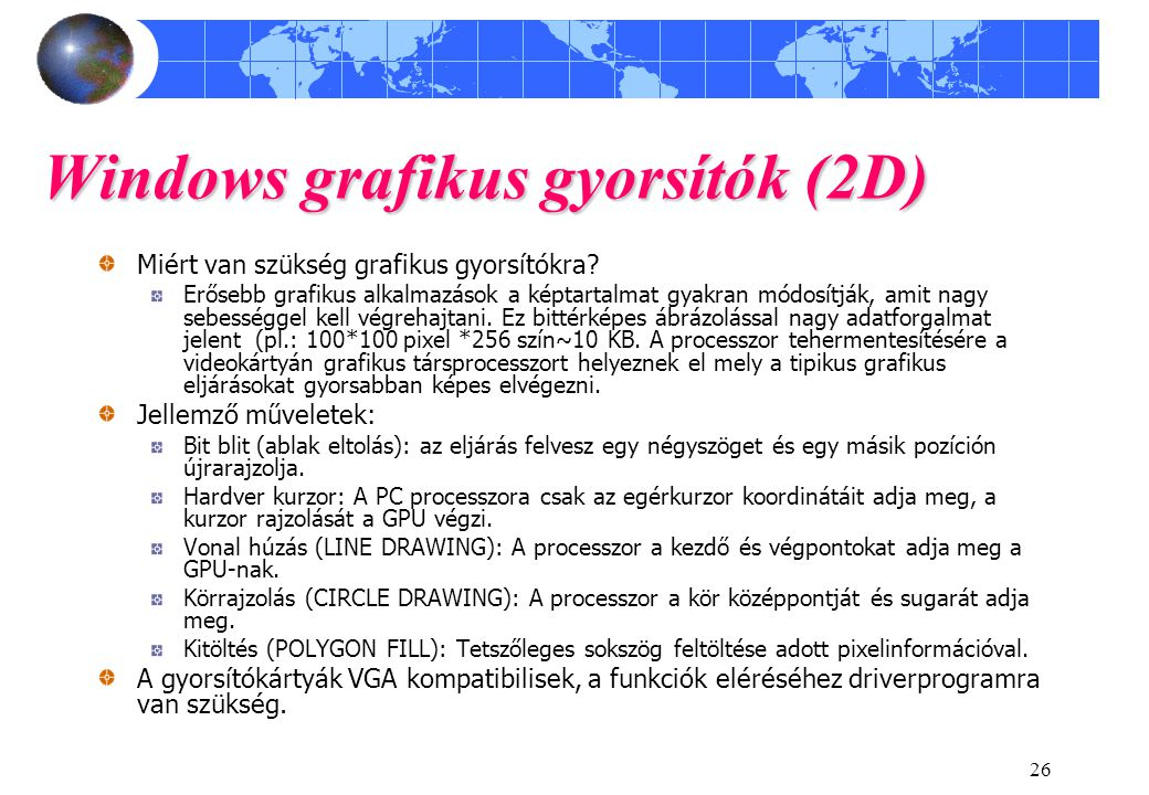 Windows grafikus gyorsítók (2D)