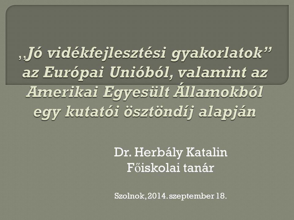 Dr. Herbály Katalin Főiskolai tanár Szolnok, 2014. szeptember 18.