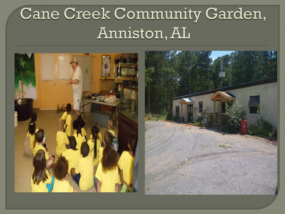Cane Creek Community Garden, Anniston, AL