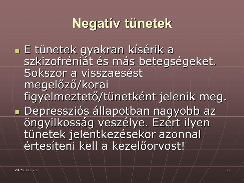 Negatív tünetek