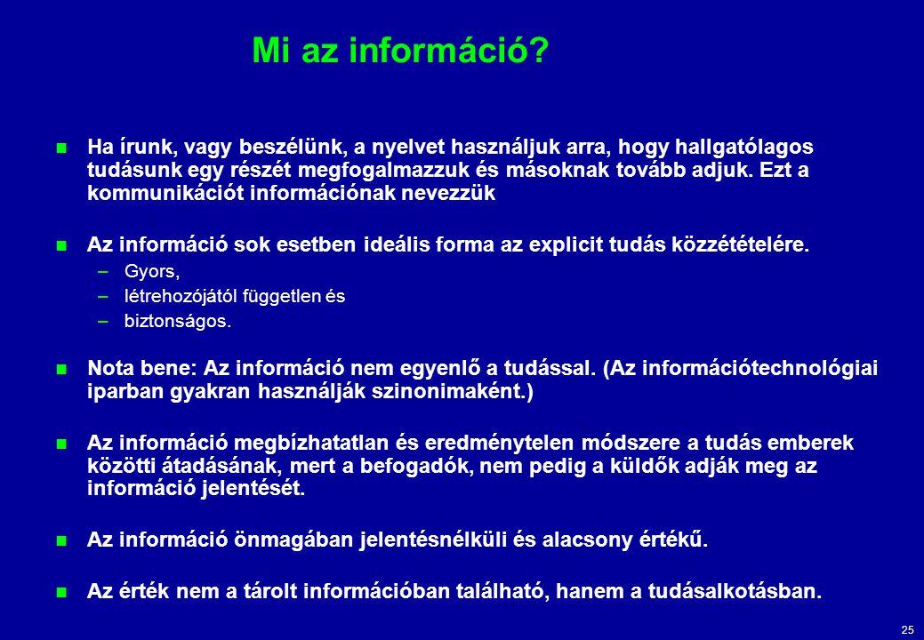 Mi az információ