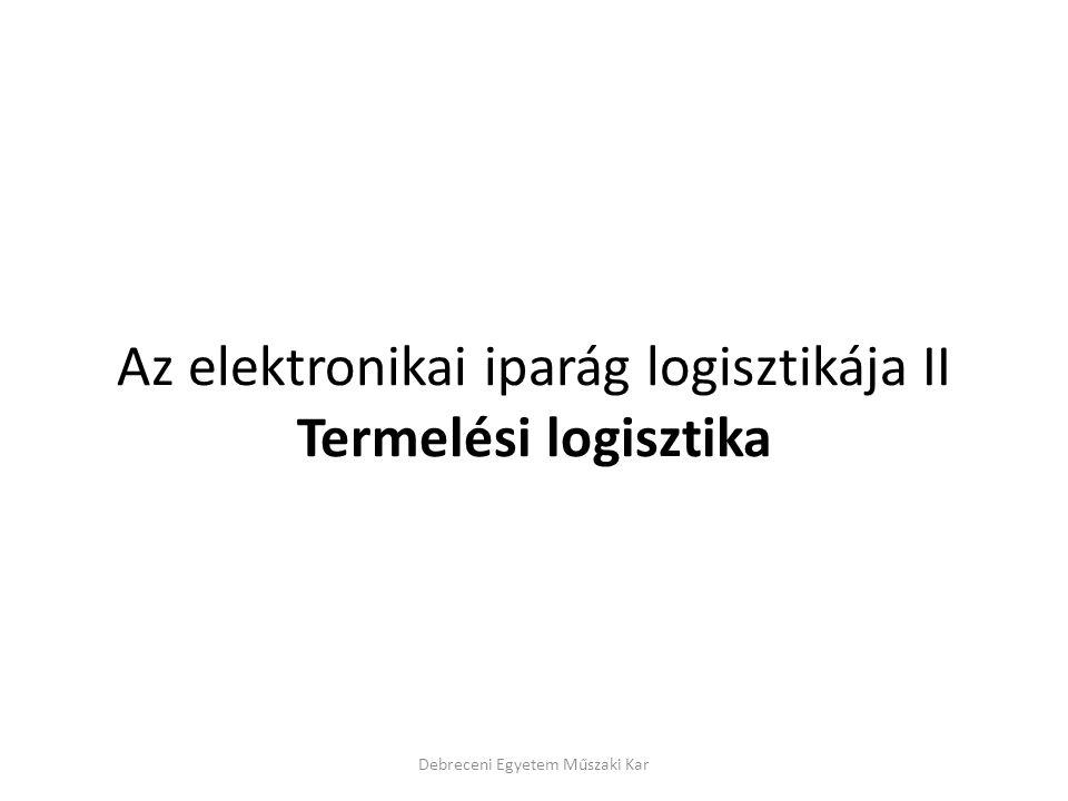 Az elektronikai iparág logisztikája II Termelési logisztika