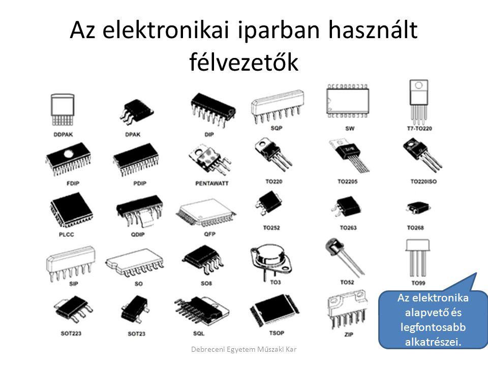 Az elektronikai iparban használt félvezetők