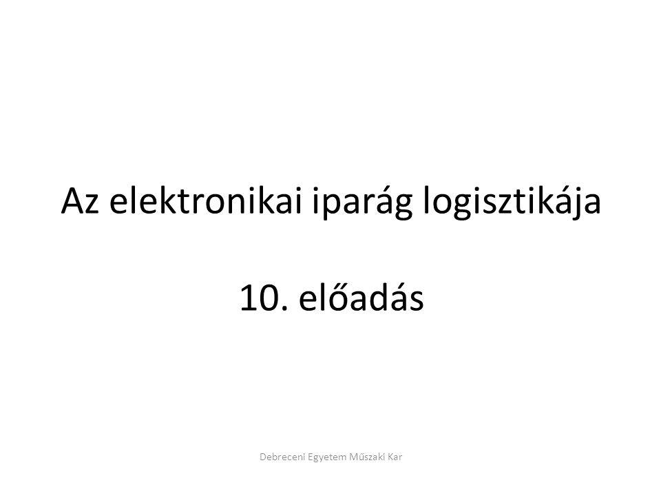 Az elektronikai iparág logisztikája 10. előadás