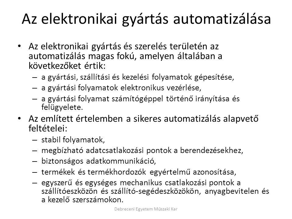 Az elektronikai gyártás automatizálása