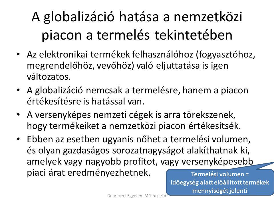 A globalizáció hatása a nemzetközi piacon a termelés tekintetében