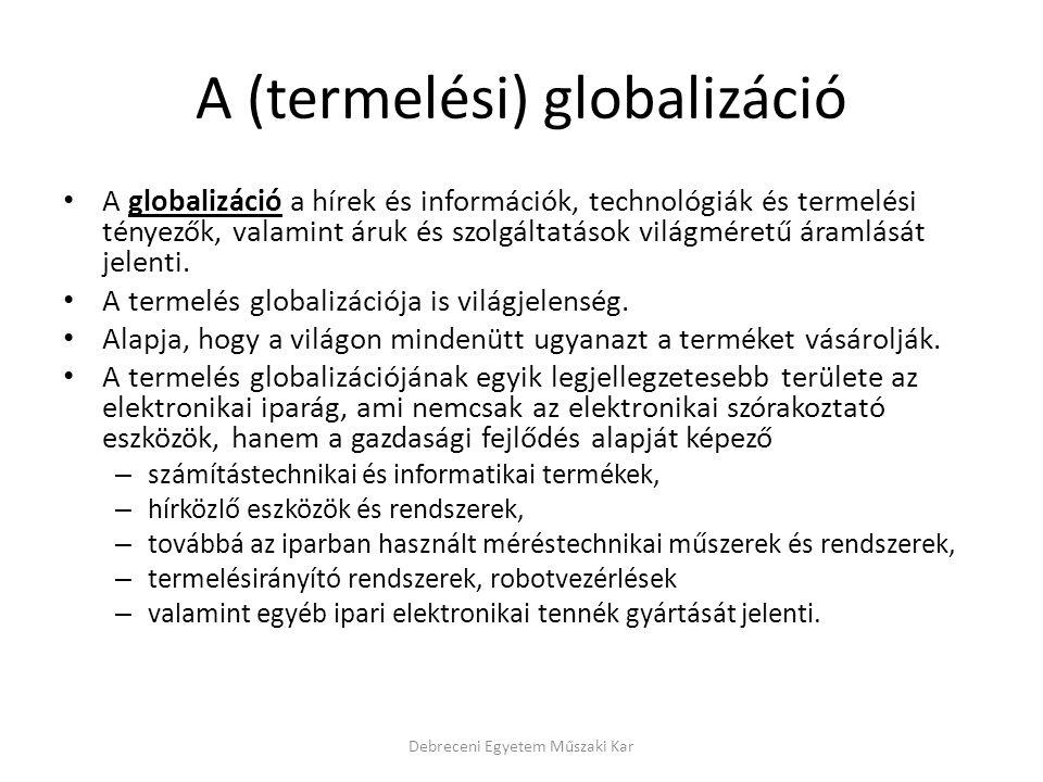 A (termelési) globalizáció