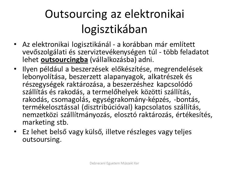 Outsourcing az elektronikai logisztikában