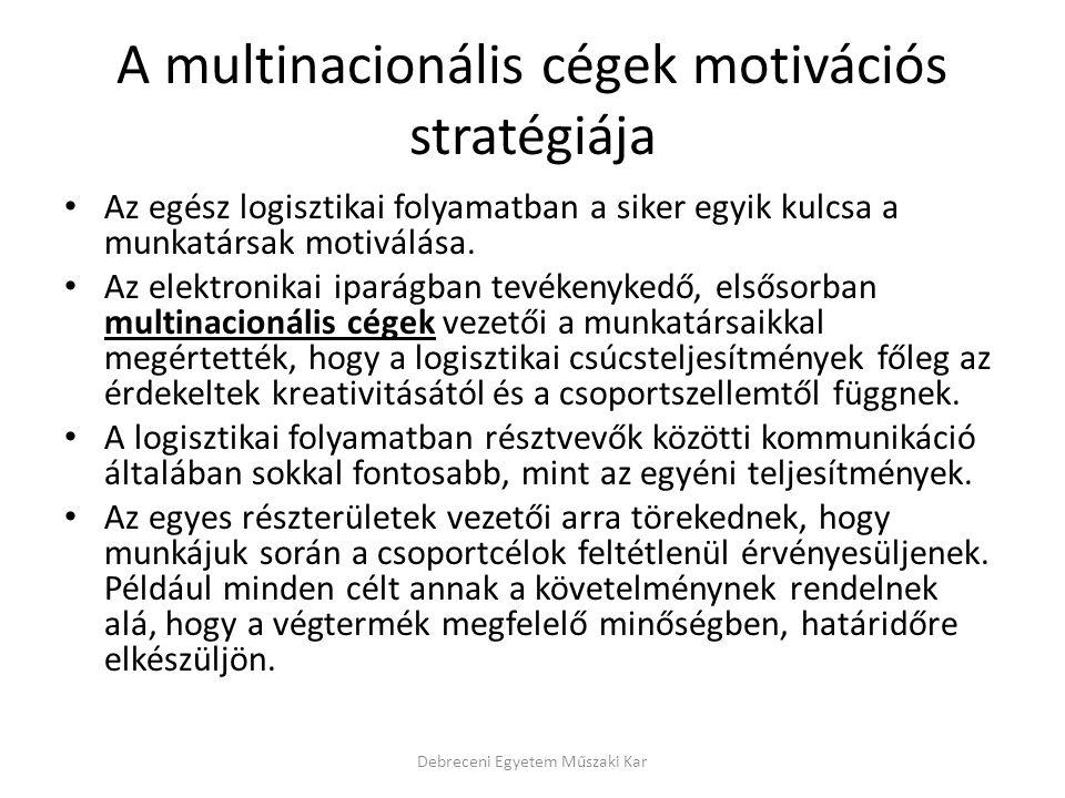 A multinacionális cégek motivációs stratégiája