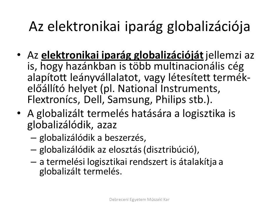 Az elektronikai iparág globalizációja