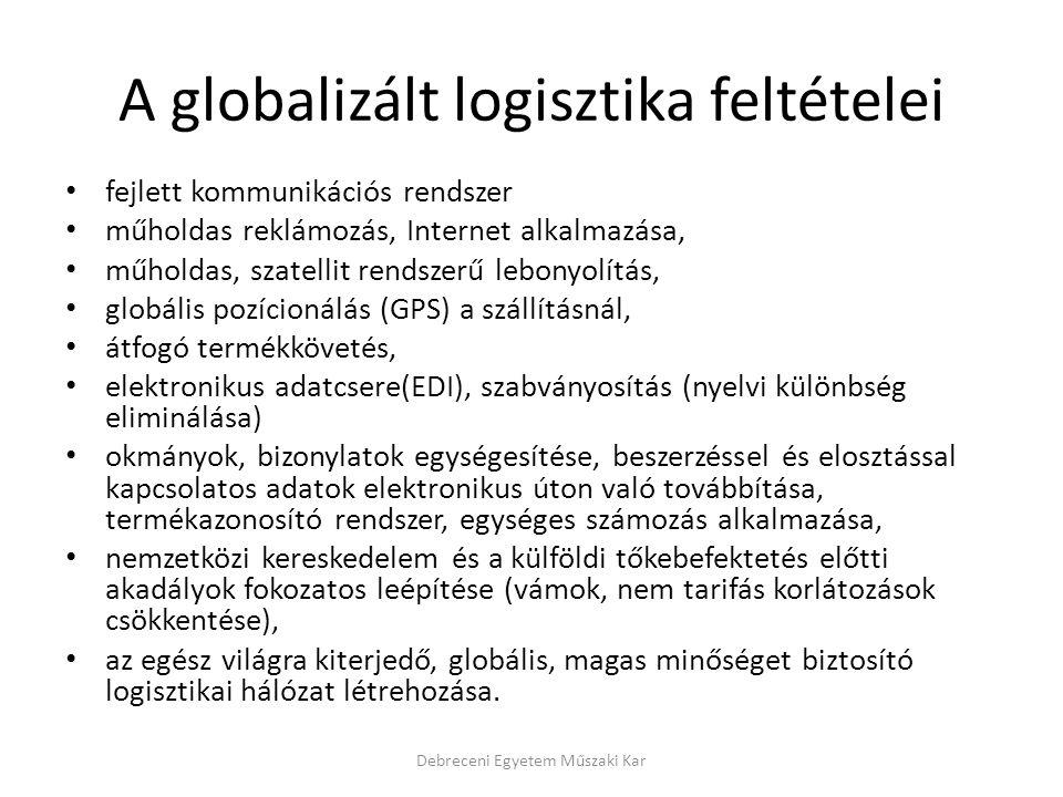 A globalizált logisztika feltételei