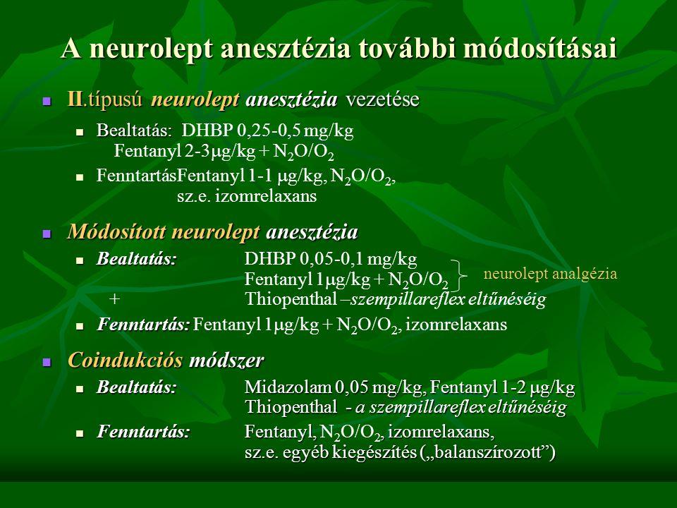 A neurolept anesztézia további módosításai