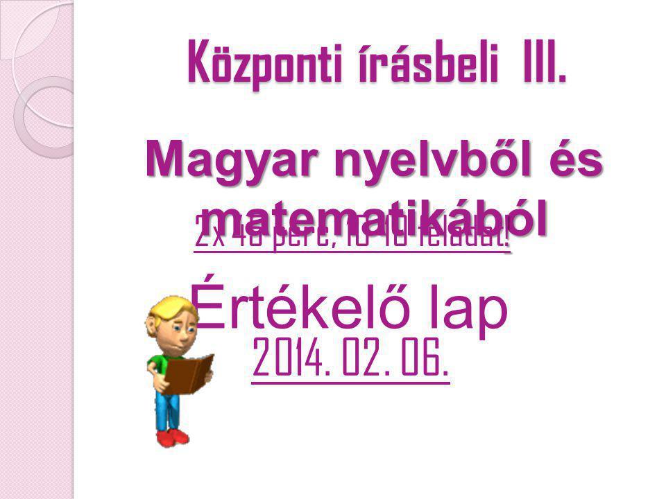 Magyar nyelvből és matematikából
