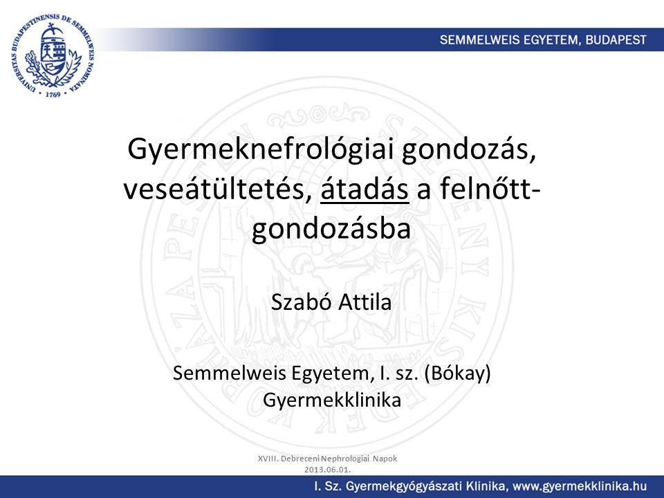 Szabó Attila Semmelweis Egyetem, I. sz. (Bókay) Gyermekklinika