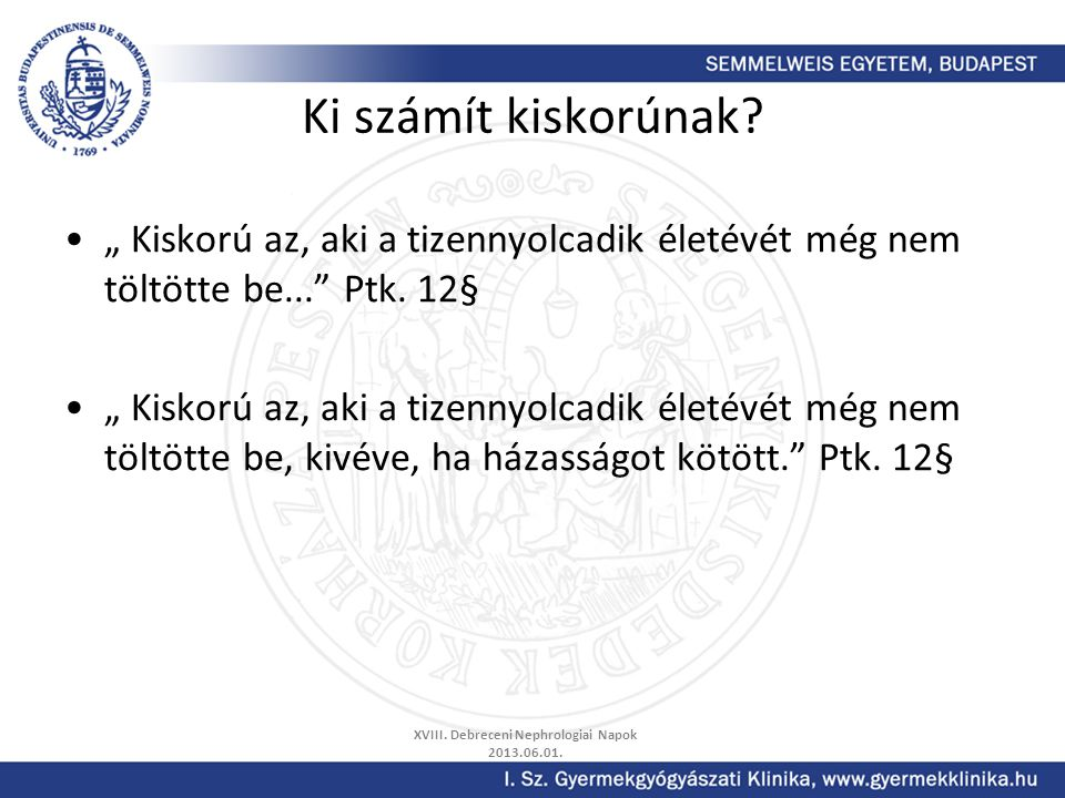 XVIII. Debreceni Nephrologiai Napok