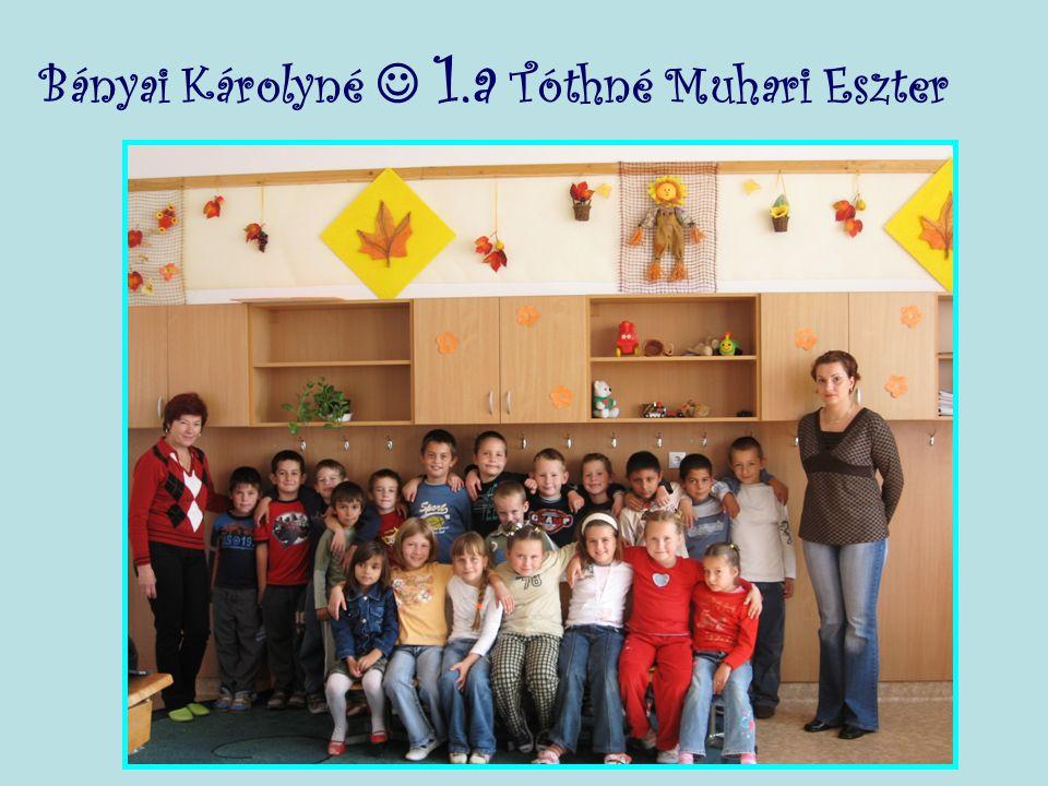 Bányai Károlyné  1.a Tóthné Muhari Eszter