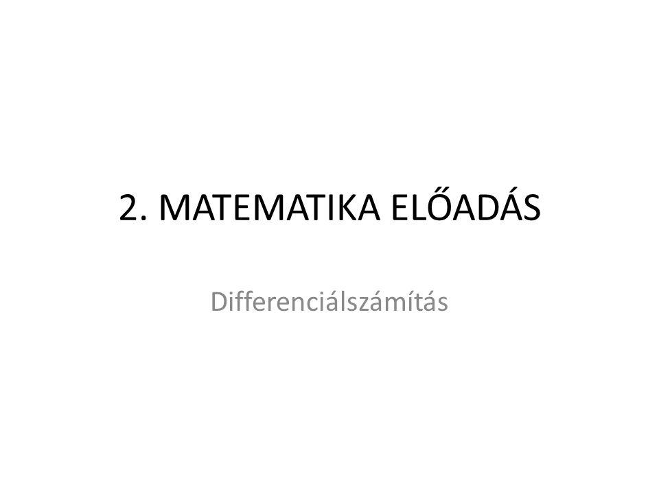 Differenciálszámítás