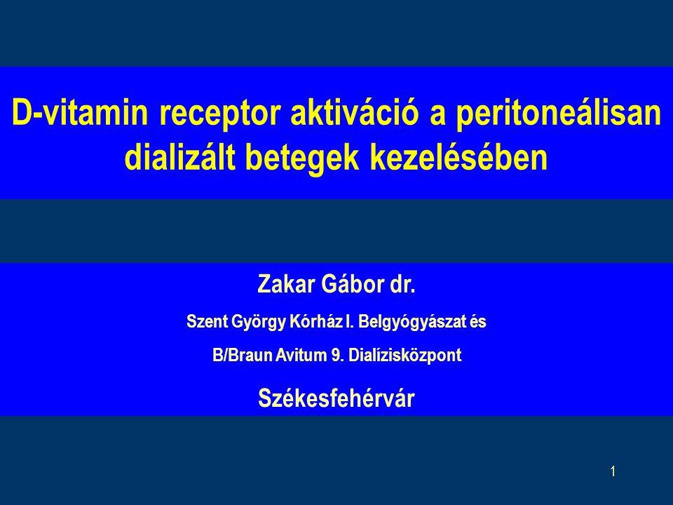 D-vitamin receptor aktiváció a peritoneálisan dializált betegek kezelésében