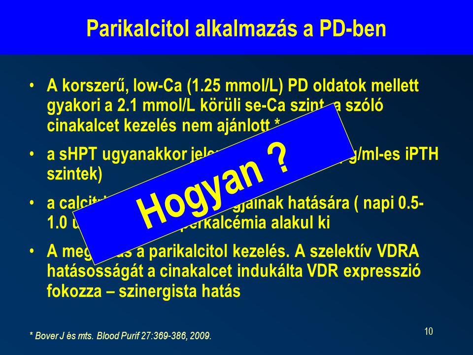Parikalcitol alkalmazás a PD-ben