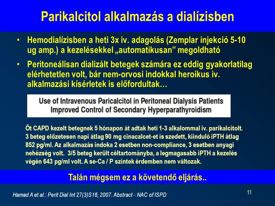 Parikalcitol alkalmazás a dialízisben