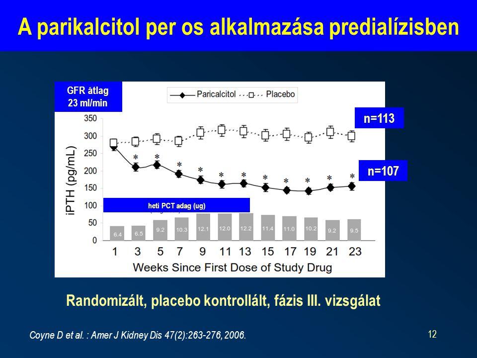 A parikalcitol per os alkalmazása predialízisben