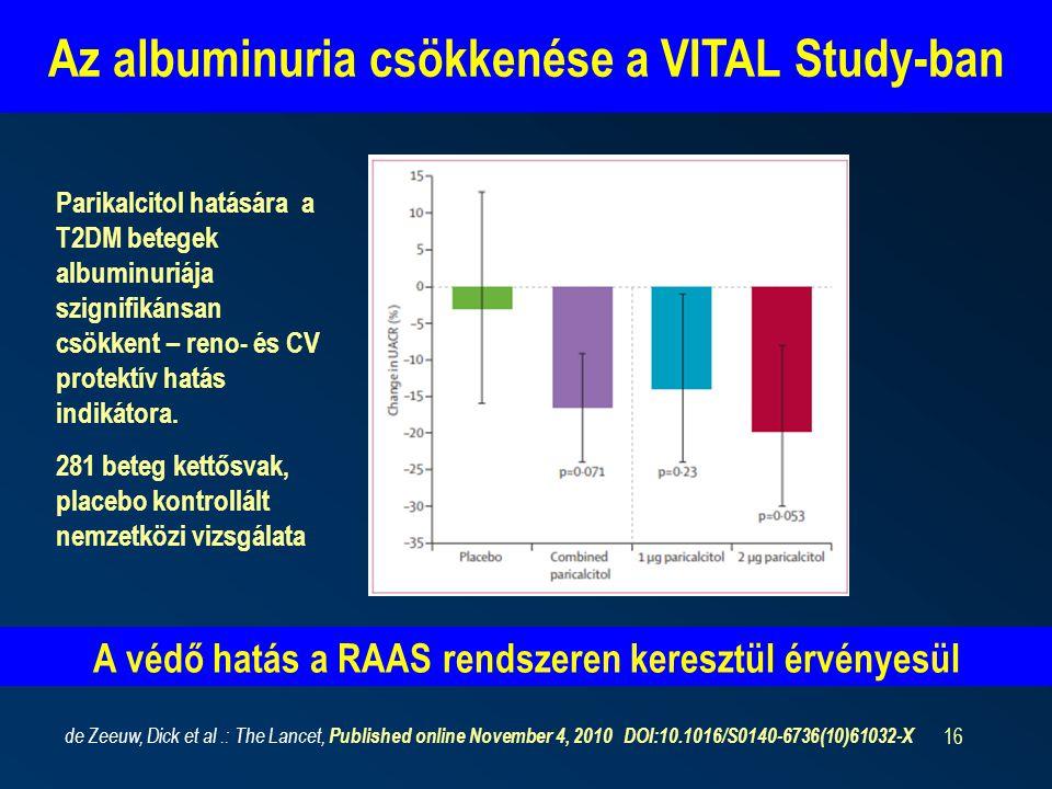 Az albuminuria csökkenése a VITAL Study-ban
