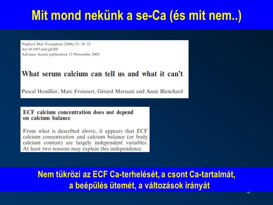 Mit mond nekünk a se-Ca (és mit nem..)