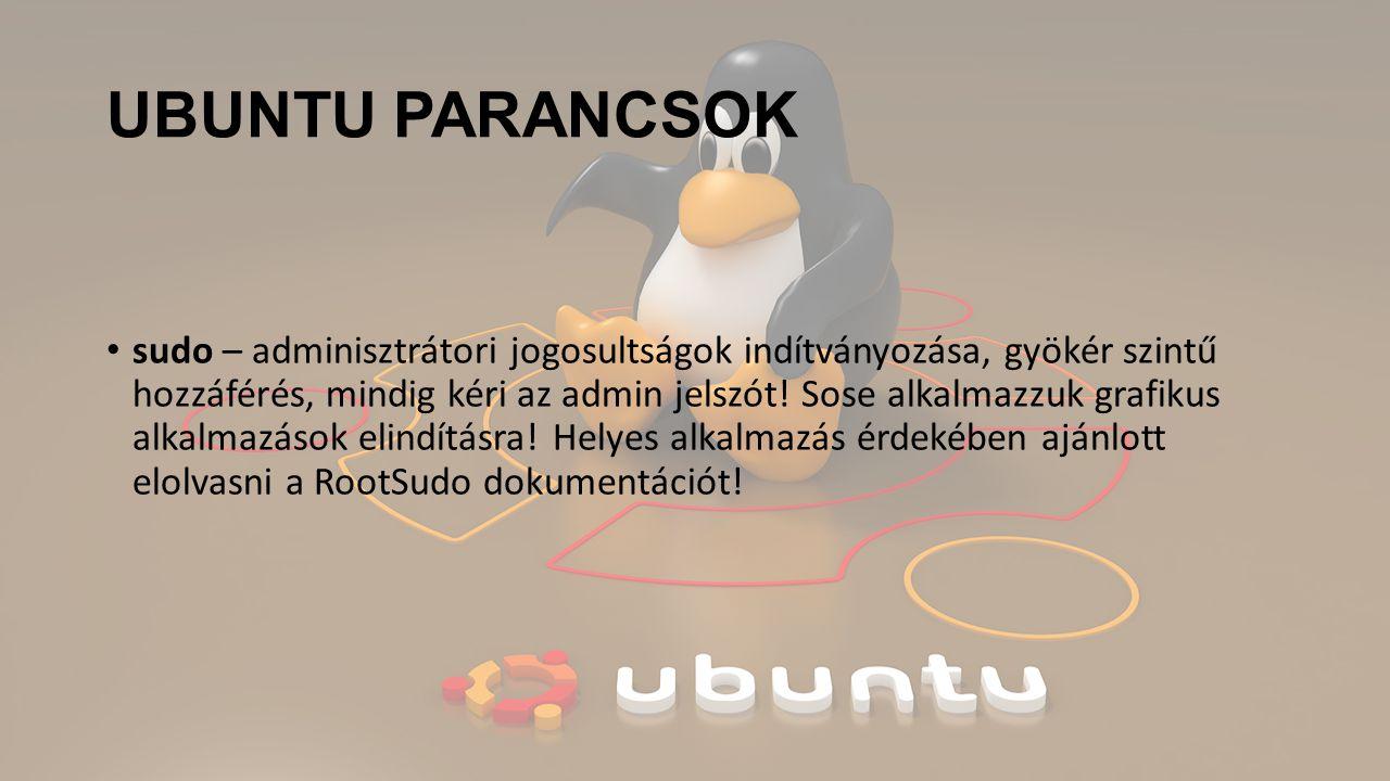 UBUNTU PARANCSOK