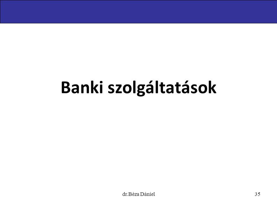 Banki szolgáltatások dr.Béza Dániel