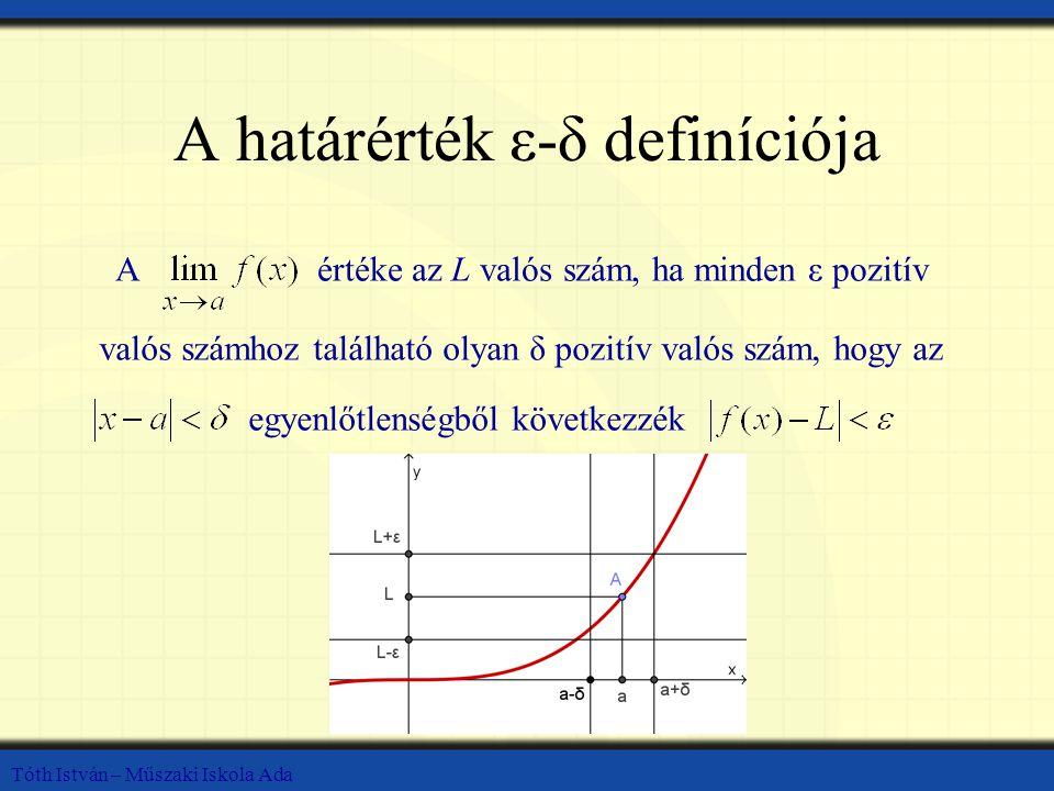 A határérték ε-δ definíciója