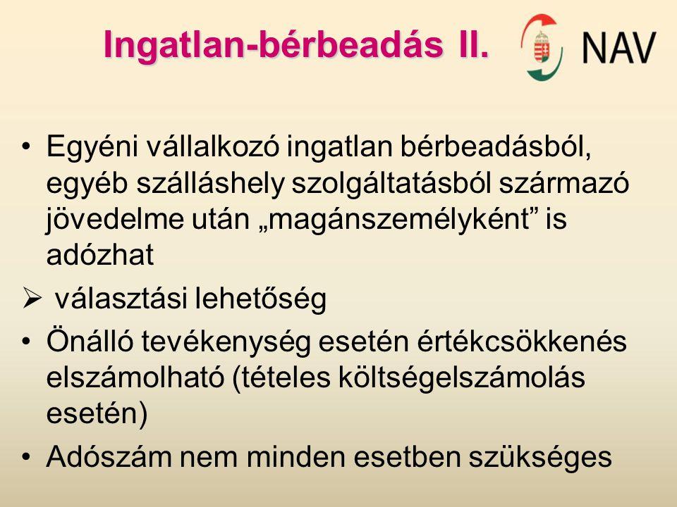 Ingatlan-bérbeadás II.