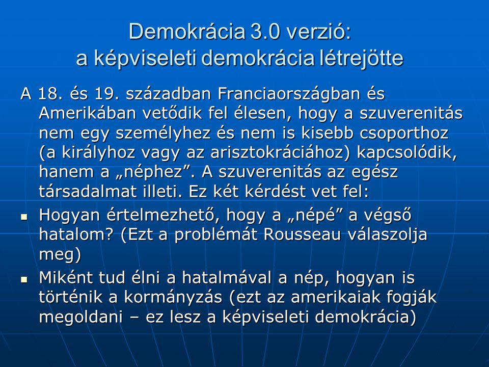 Demokrácia 3.0 verzió: a képviseleti demokrácia létrejötte