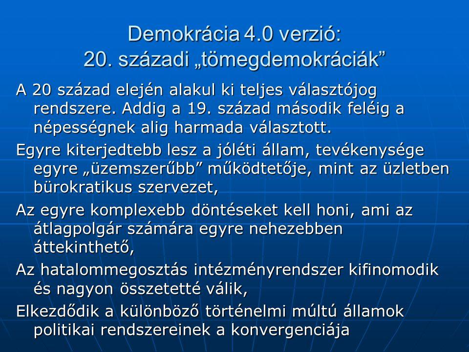 """Demokrácia 4.0 verzió: 20. századi """"tömegdemokráciák"""
