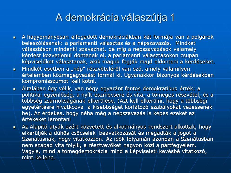 A demokrácia válaszútja 1