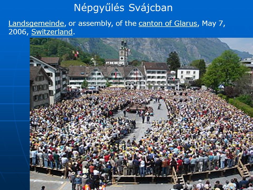 Népgyűlés Svájcban Landsgemeinde, or assembly, of the canton of Glarus, May 7, 2006, Switzerland.