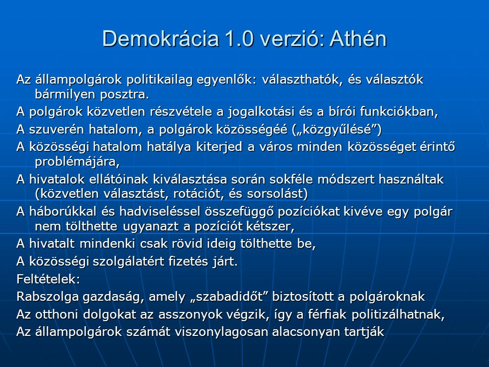 Demokrácia 1.0 verzió: Athén