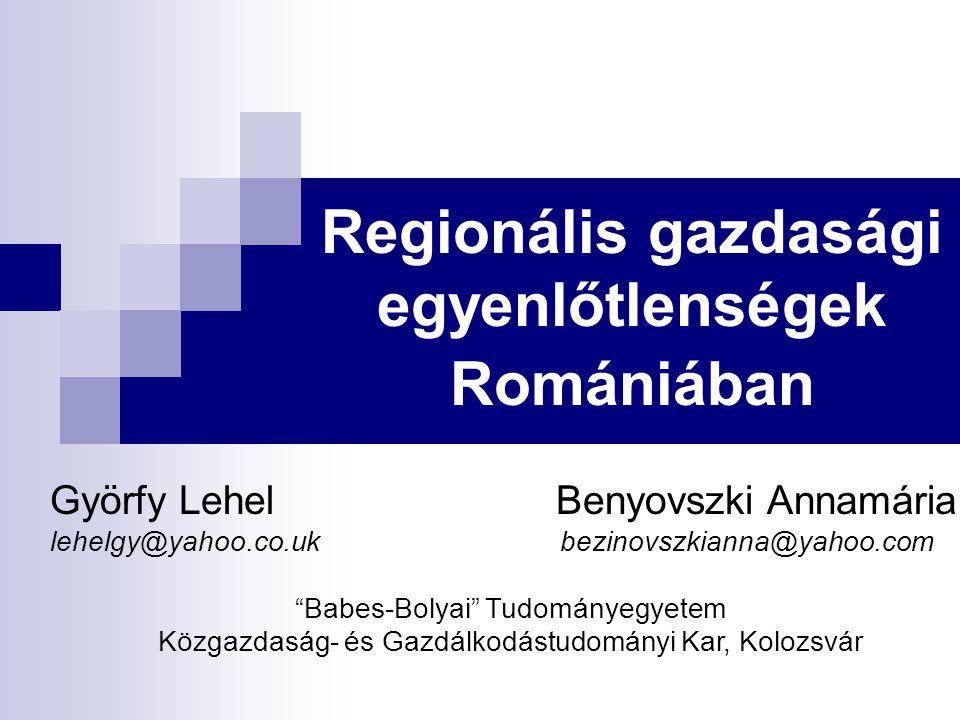 Regionális gazdasági egyenlőtlenségek Romániában