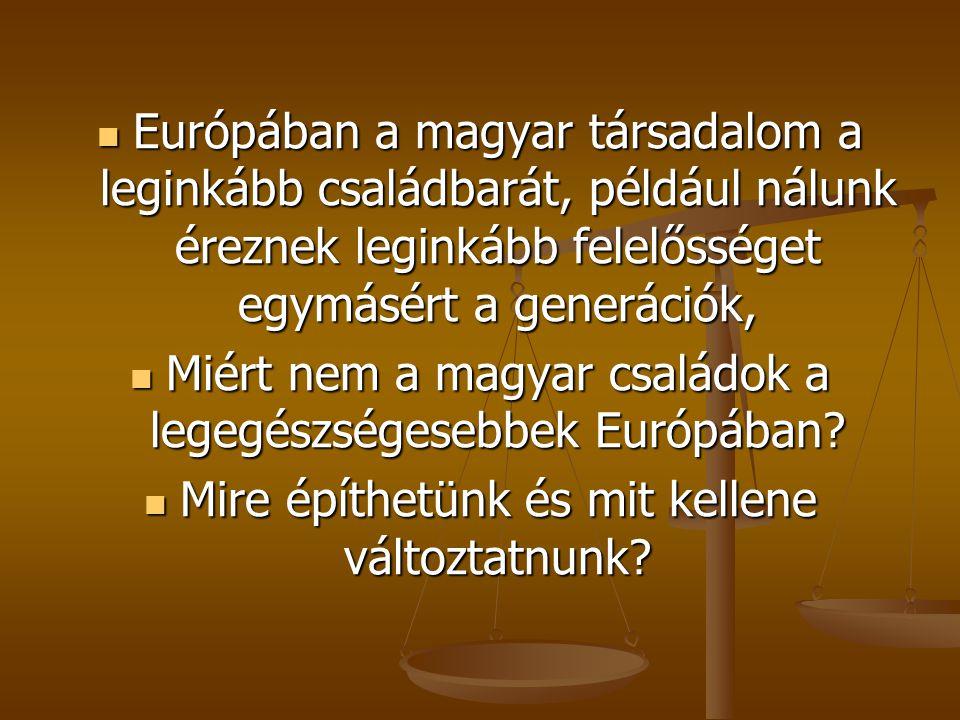 Miért nem a magyar családok a legegészségesebbek Európában