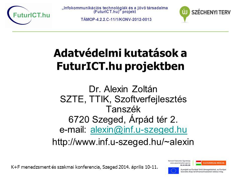 Adatvédelmi kutatások a FuturICT.hu projektben