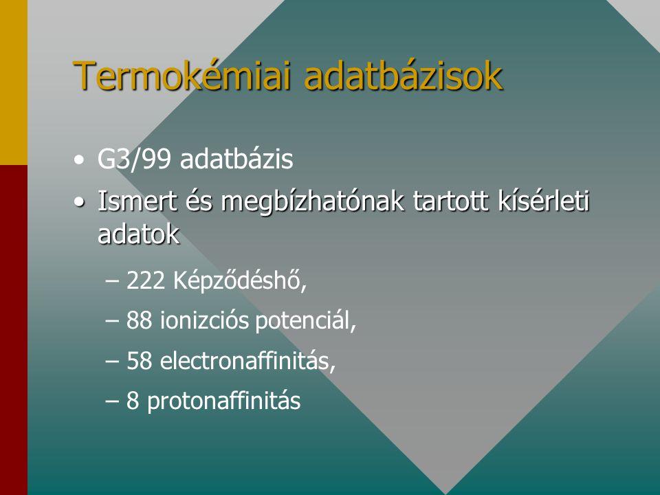 Termokémiai adatbázisok