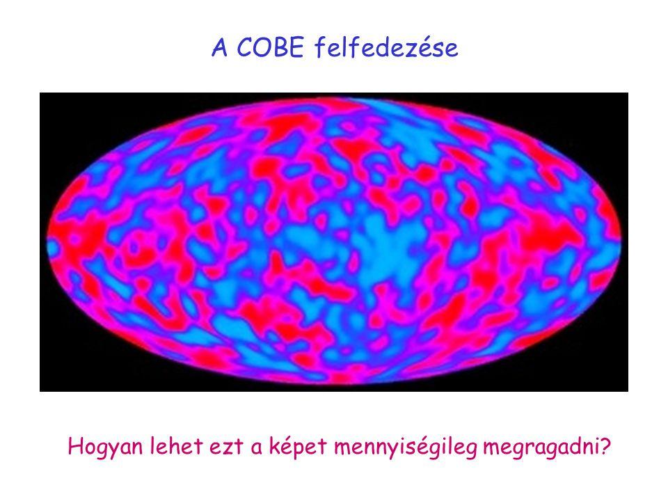 A COBE felfedezése Hogyan lehet ezt a képet mennyiségileg megragadni