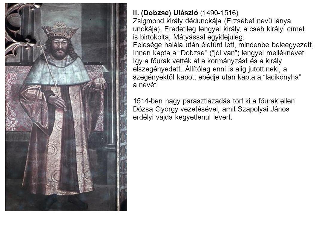 II. (Dobzse) Ulászló (1490-1516)