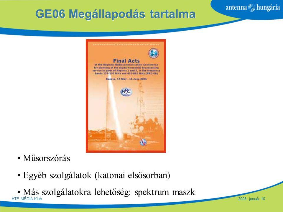 GE06 Megállapodás tartalma