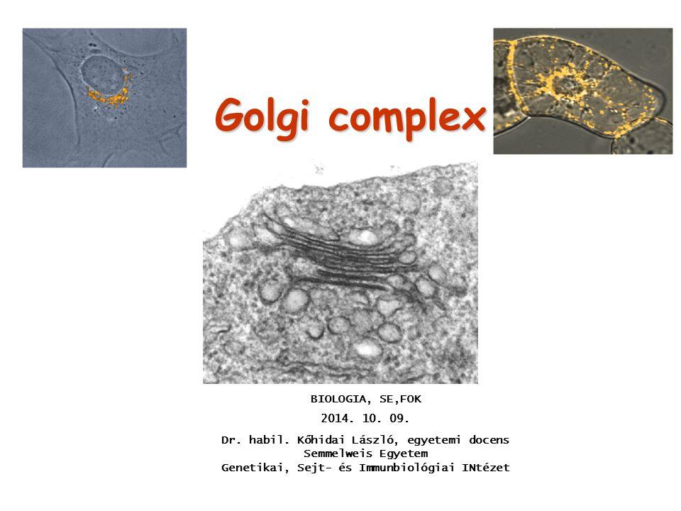 Golgi complex BIOLOGIA, SE,FOK 2014. 10. 09.
