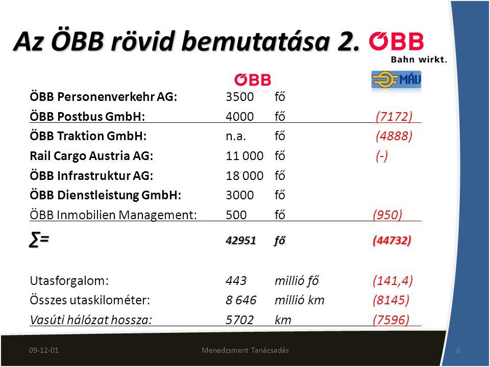 Az ÖBB rövid bemutatása 2.