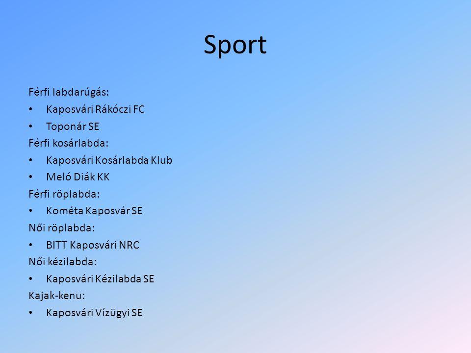 Sport Férfi labdarúgás: Kaposvári Rákóczi FC Toponár SE